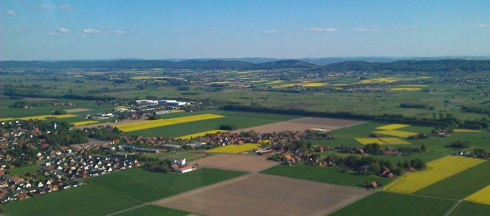 Gemeinde Hille Luftaufnahme